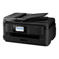 Epson WorkForce WF-7710DWF - Multifunction printer - colour - ink-jet - A3 (media) - up to 32 ppm (printing) - 250 sheets - 33.6 Kbps - USB 2.0, LAN, Wi-Fi(n), USB host, NFC