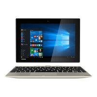 "Toshiba Satellite Click 10 LX5W-C-10C - Tablet - with keyboard dock - Atom x5 Z8300 / 1.44 GHz - Win 10 Home 64-bit - 2 GB RAM - 32 GB eMMC - 10.1"" touchscreen 1920 x 1200 - HD Graphics - satin gold"