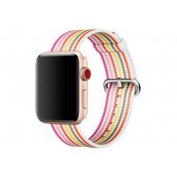 Apple 42mm Woven Nylon Band - Watch strap - 145-215 mm - pink stripe