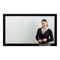 Eyeline Frame Screen - Projection screen - wall mountable - 72 in (183 cm) - 16:9 - Matte White - black