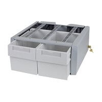 Ergotron StyleView SV43/44 Series Supplemental Double Tall - Mounting component (2 drawers module) - lockable - medical - grey, white - cart mountable