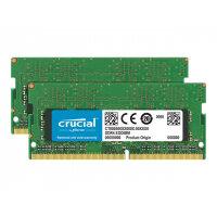 Crucial - DDR4 - 8 GB: 2 x 4 GB - SO-DIMM 260-pin - 2666 MHz / PC4-21300 - CL19 - 1.2 V - unbuffered - non-ECC