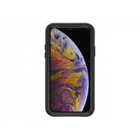 OtterBox Defender Series Filmless - Back cover for mobile phone - polycarbonate, synthetic rubber - black - for Apple iPhone X, XS