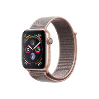 """Apple Watch Series 4 (GPS) - 40 mm - gold aluminium - smart watch with sport loop - woven nylon - pink sand - band size 130-190 mm - display 1.57"""" - 16 GB - Wi-Fi, Bluetooth - 30.1 g"""