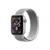 "Apple Watch Series 4 (GPS) - 40 mm - silver aluminium - smart watch with sport loop - woven nylon - seashell - band size 130-190 mm - display 1.57"" - 16 GB - Wi-Fi, Bluetooth - 30.1 g"