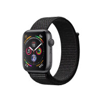 """Apple Watch Series 4 (GPS) - 40 mm - space grey aluminium - smart watch with sport loop - woven nylon - black - band size 130-190 mm - display 1.57"""" - 16 GB - Wi-Fi, Bluetooth - 30.1 g"""