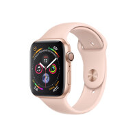 """Apple Watch Series 4 (GPS) - 44 mm - gold aluminium - smart watch with sport band - fluoroelastomer - pink sand - band size 140-210 mm - display 1.78"""" - 16 GB - Wi-Fi, Bluetooth - 36.7 g"""