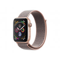 """Apple Watch Series 4 (GPS) - 44 mm - gold aluminium - smart watch with sport loop - woven nylon - pink sand - band size 145-220 mm - display 1.78"""" - 16 GB - Wi-Fi, Bluetooth - 36.7 g"""