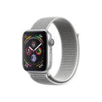 "Apple Watch Series 4 (GPS) - 44 mm - silver aluminium - smart watch with sport loop - woven nylon - seashell - band size 145-220 mm - display 1.78"" - 16 GB - Wi-Fi, Bluetooth - 36.7 g"