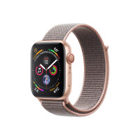 """Apple Watch Series 4 (GPS + Cellular) - 40 mm - gold aluminium - smart watch with sport loop - woven nylon - pink sand - band size 130-190 mm - display 1.57"""" - 16 GB - Wi-Fi, Bluetooth - 4G - 30.1 g"""