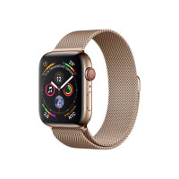 """Apple Watch Series 4 (GPS + Cellular) - 40 mm - gold stainless steel - smart watch with milanese loop - steel mesh - gold - band size 130-180 mm - display 1.57"""" - 16 GB - Wi-Fi, Bluetooth - 4G - 39.8 g"""