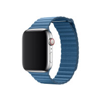 Apple 44mm Leather Loop - Watch strap - Large - cape cod blue - for Watch (42 mm, 44 mm)