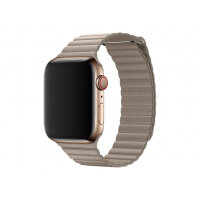 Apple 44mm Leather Loop - Watch strap - Large - stone - for Watch (42 mm, 44 mm)