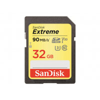SanDisk Extreme - Flash memory card - 32 GB - Video Class V30 / UHS Class 3 / Class10 - SDHC UHS-I
