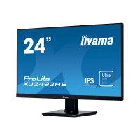 "iiyama ProLite XU2493HS-B1 - LED monitor - 23.8"" - 1920 x 1080 Full HD (1080p) - IPS - 250 cd/m² - 1000:1 - 4 ms - HDMI, VGA, DisplayPort - speakers - black"