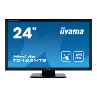 "iiyama ProLite T2453MTS-B1 - LED monitor - 24"" (23.6"" viewable) - touchscreen - 1920 x 1080 Full HD (1080p) - VA - 250 cd/m² - 3000:1 - 4 ms - HDMI, DVI, VGA - speakers - black"