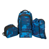"Targus Sport Backpack set for School - 4-Piece Bundle - notebook carrying backpack - 15.6"" - blue, camo"