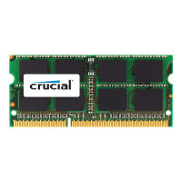 """Crucial - DDR3 - 4 GB - SO-DIMM 204-pin - 1600 MHz / PC3-12800 - CL11 - 1.35 / 1.5 V - unbuffered - non-ECC - for Apple iMac 27"""" (Late 2012); MacBook Pro (Mid 2012)"""