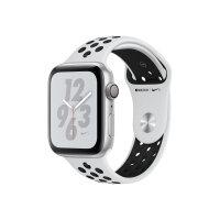 "Apple Watch Nike+ Series 4 (GPS) - 40 mm - silver aluminium - smart watch with Nike sport band - fluoroelastomer - pure platinum/black - band size 130-200 mm - display 1.57"" - 16 GB - Wi-Fi, Bluetooth - 30.1 g"