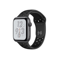 """Apple Watch Nike+ Series 4 (GPS) - 40 mm - space grey aluminium - smart watch with Nike sport band - fluoroelastomer - anthracite/black - band size 130-200 mm - display 1.57"""" - 16 GB - Wi-Fi, Bluetooth - 30.1 g"""
