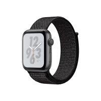 "Apple Watch Nike+ Series 4 (GPS) - 44 mm - space grey aluminium - smart watch with Nike sport loop - woven nylon - black - band size 145-220 mm - display 1.78"" - 16 GB - Wi-Fi, Bluetooth - 36.7 g"
