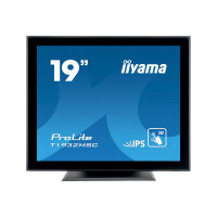 "iiyama ProLite T1932MSC-B5X - LED monitor - 19"" - touchscreen - 1280 x 1024 - IPS - 250 cd/m² - 1000:1 - 14 ms - HDMI, VGA, DisplayPort - speakers - black"
