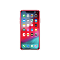 Apple - Back cover for mobile phone - silicone - hibiscus - for iPhone XS Max