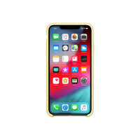 Apple - Back cover for mobile phone - silicone - mellow yellow - for iPhone XS Max