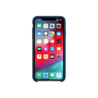 Apple - Back cover for mobile phone - silicone - pacific green - for iPhone XS Max