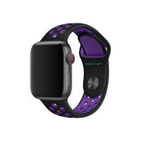 Apple 40mm Nike Sport Band - Watch strap - 130-200 mm - black/hyper grape - for Watch (38 mm, 40 mm)