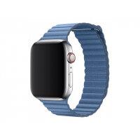 Apple 44mm Leather Loop - Watch strap - Medium - cornflower - demo - for Watch (42 mm, 44 mm)