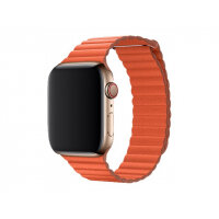 Apple 44mm Leather Loop - Watch strap - Medium - sunset - demo - for Watch (42 mm, 44 mm)