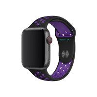 Apple 44mm Nike Sport Band - Watch strap - 140-210 mm - black/hyper grape - for Watch (42 mm, 44 mm)