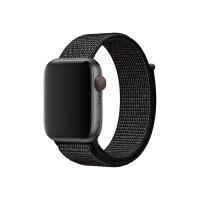 Apple 44mm Nike Sport Loop - Watch strap - Regular (fits wrists 145 -220 mm) - black - for Watch (42 mm, 44 mm)