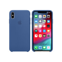 Apple Smart - Back cover for mobile phone - silicone - delft blue - for iPhone XS Max