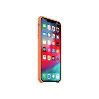 Apple Smart - Back cover for mobile phone - silicone - papaya - for iPhone XS Max