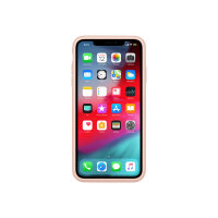 Apple Smart - Battery case back cover for mobile phone - silicone, elastomer - pink sand - for iPhone XS Max