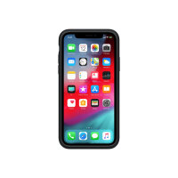 Apple Smart - Battery case for mobile phone - silicone - black - for iPhone XS
