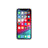 Apple Smart - Battery case for mobile phone - silicone - white - for iPhone XS Max