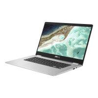 "ASUS Chromebook C523NA A20101 - Pentium N4200 / 1.1 GHz - Chrome OS - 8 GB RAM - 64 GB eMMC - 15.6"" touchscreen 1920 x 1080 (Full HD) - HD Graphics 500 - 802.11ac - silver (top), black (LCD cover)"
