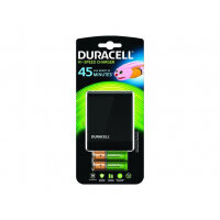 Duracell Speedy Charger - 1 hr battery charger - (for 4xAA/AAA) + AC power adapter + car power adapter 2 x AA type - NiMH - 1700 mAh - Europe - with 2 x AAA 750 mAh batteries
