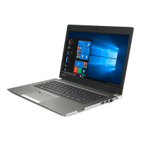 "Dynabook Toshiba Portégé Z30-E-15L - Ultrabook - Core i5 8250U / 1.6 GHz - Win 10 Pro 64-bit - 8 GB RAM - 128 GB SSD - 13.3"" 1920 x 1080 (Full HD) - UHD Graphics 620 - Wi-Fi, Bluetooth - Cosmo Silver, matte black (keyboard) - BTO - with"