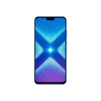 "Honor 8X - Smartphone - dual-SIM - 4G LTE - 64 GB - microSDHC slot, - microSDXC slot - GSM - 6.5"" - 2340 x 1080 pixels (397 ppi) - LTPS IPS - RAM 4 GB (16 MP front camera) - 2x rear cameras - Android - blue"