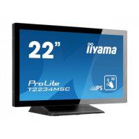 "iiyama ProLite T2234MSC-B6X - LED monitor - 21.5"" - touchscreen - 1920 x 1080 Full HD (1080p) - IPS - 350 cd/m² - 500:1 - 8 ms - HDMI, VGA, DisplayPort - speakers - black"