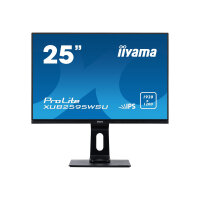 "iiyama ProLite XUB2595WSU-B1 - LED monitor - 25"" - 1920 x 1200 Full HD (1080p) - AH-IPS - 300 cd/m² - 1000:1 - 4 ms - HDMI, VGA, DisplayPort - speakers - matte black"