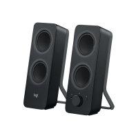Logitech Z207 - Speakers - for PC - 2.0-channel - wireless - Bluetooth - 5 Watt (Total) - black