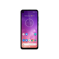"""Motorola One Vision - Android One - smartphone - dual-SIM - 4G LTE - 128 GB - microSDXC slot - GSM - 6.3"""" - 2520 x 1080 pixels (432 ppi) - LTPS IPS - RAM 4 GB (25 MP front camera) - 2x rear cameras - Android - sapphire gradient"""