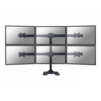 "NewStar FPMA-D700DD6 - Desk mount for 6 LCD displays - black - screen size: 10""-27"""