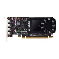 NVIDIA Quadro P1000 - Graphics card - Quadro P1000 - 4 GB GDDR5 - PCIe 3.0 x16 low profile - 4 x Mini DisplayPort - for Workstation Z2 G4, Z240 (SFF, tower), Z4 G4, Z440, Z6 G4, Z8 G4