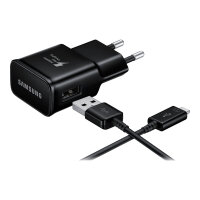 Samsung EP-TA20 - Power adapter - 2 A (USB) - on cable: USB-C - black - for Galaxy S8, S8+